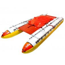 """Катамаран """"Елгач-8"""" двухсекционные баллоны сплавной надувной туристический  (полный комплект)"""
